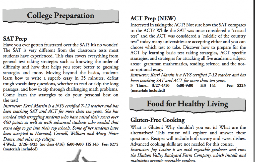 SAT/ACT Course Descriptions